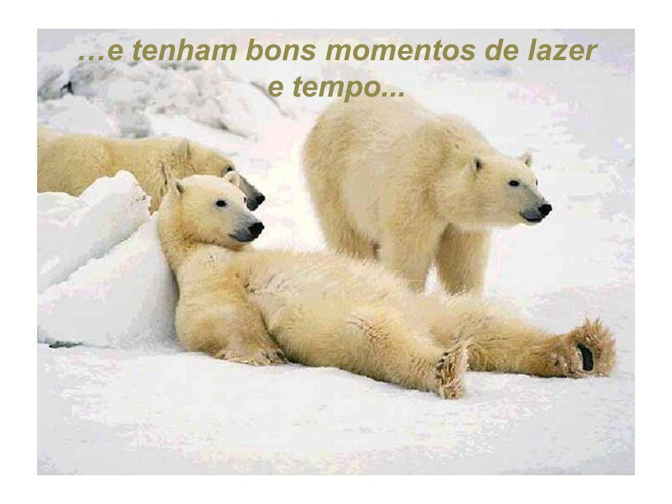 …e tenham bons momentos de lazer e tempo...