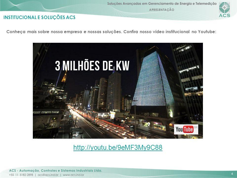 APRESENTAÇÃO 5 INSTITUCIONAL E SOLUÇÕES ACS ECONOMIA ANUAL OBTIDA PELOS CLIENTES ACS: 1.000.000.000 KWh equivalente a: 293.949.959 litros de gasolina consumida (emissão CO2 equivalente) Consumo de energia de 566.893 residências médias brasileiras ou