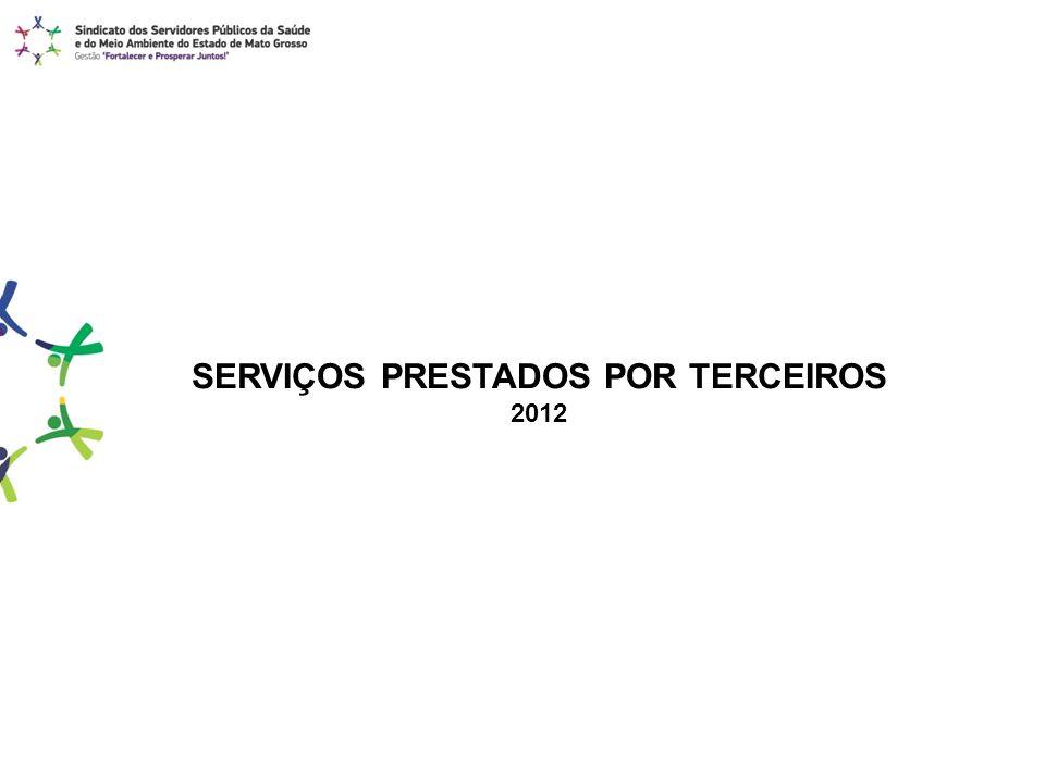 SERVIÇOS PRESTADOS POR TERCEIROS 2012