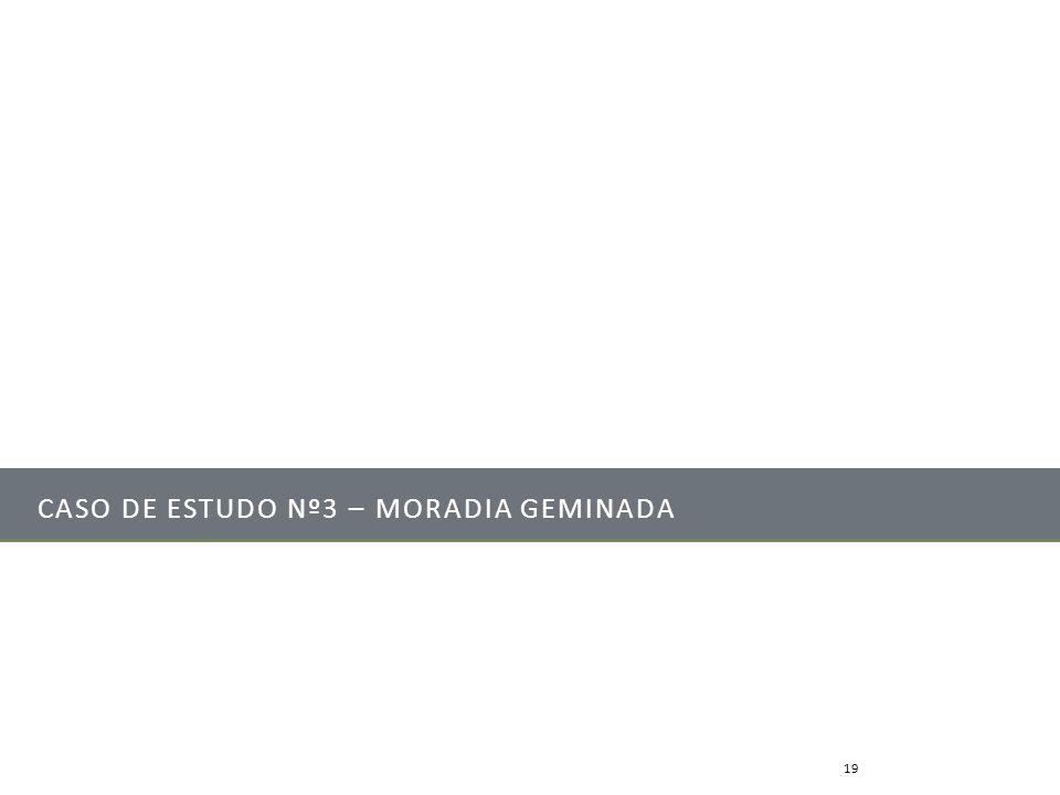 CASO DE ESTUDO Nº3 – MORADIA GEMINADA Mestrado Integrado em Engenharia Mecânica19