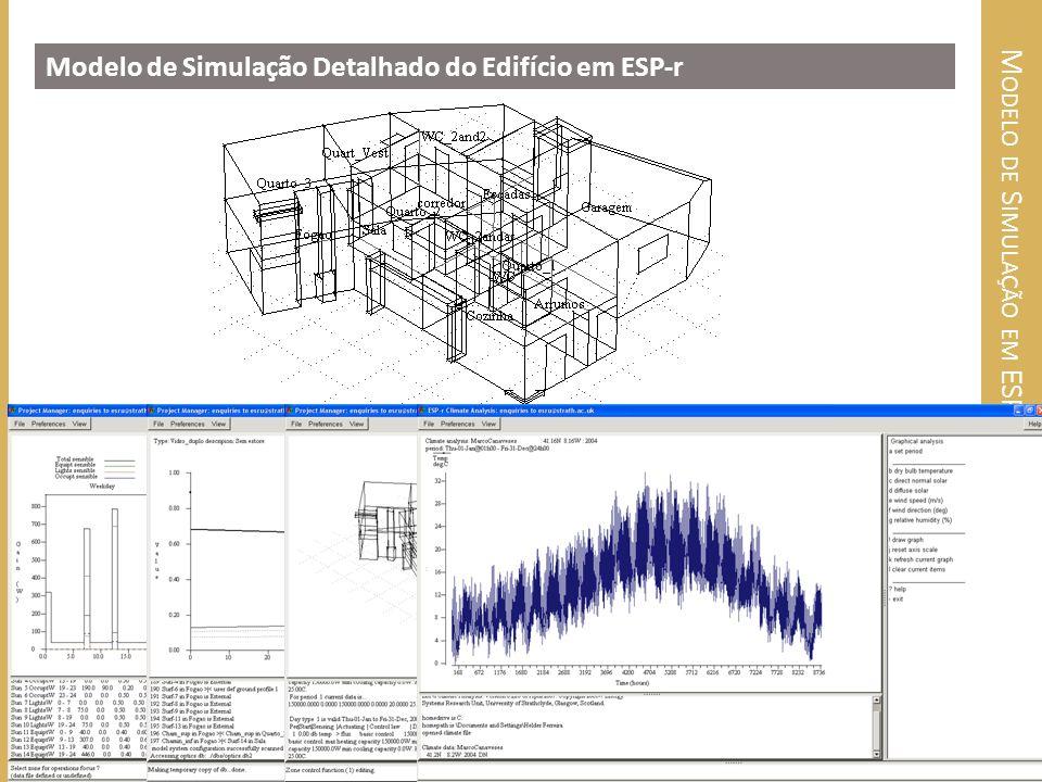 M ODELO DE S IMULAÇÃO EM ESP- R Modelo de Simulação Detalhado do Edifício em ESP-r 7 Mestrado Integrado em Engenharia Mecânica