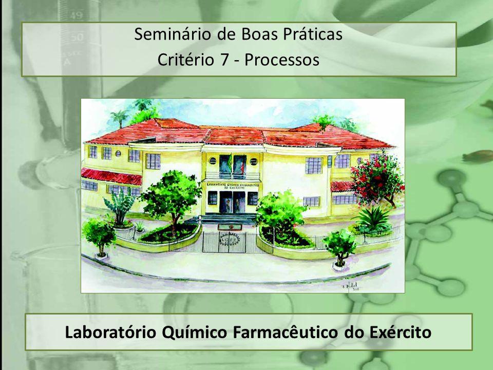 Laboratório Químico Farmacêutico do Exército Seminário de Boas Práticas Critério 7 - Processos
