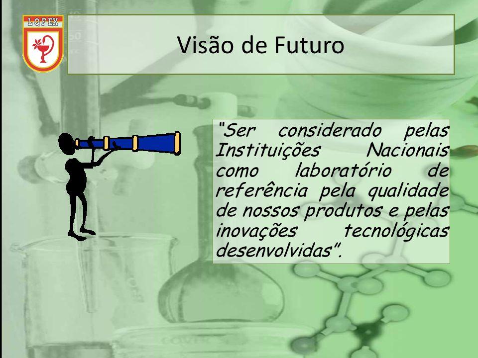 Visão de Futuro Ser considerado pelas Instituições Nacionais como laboratório de referência pela qualidade de nossos produtos e pelas inovações tecnol