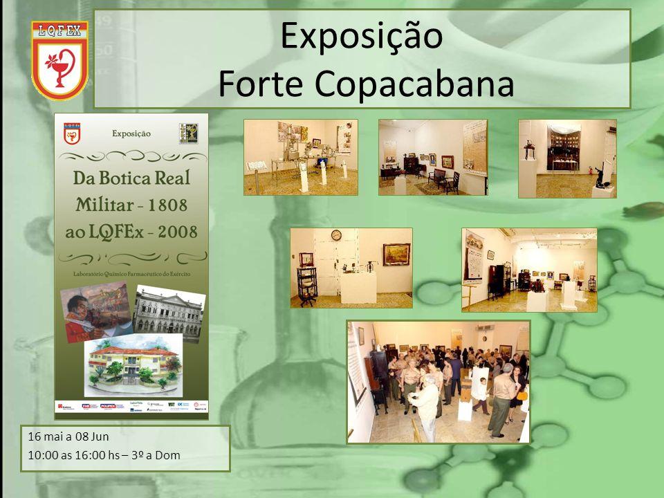Exposição Forte Copacabana 16 mai a 08 Jun 10:00 as 16:00 hs – 3º a Dom