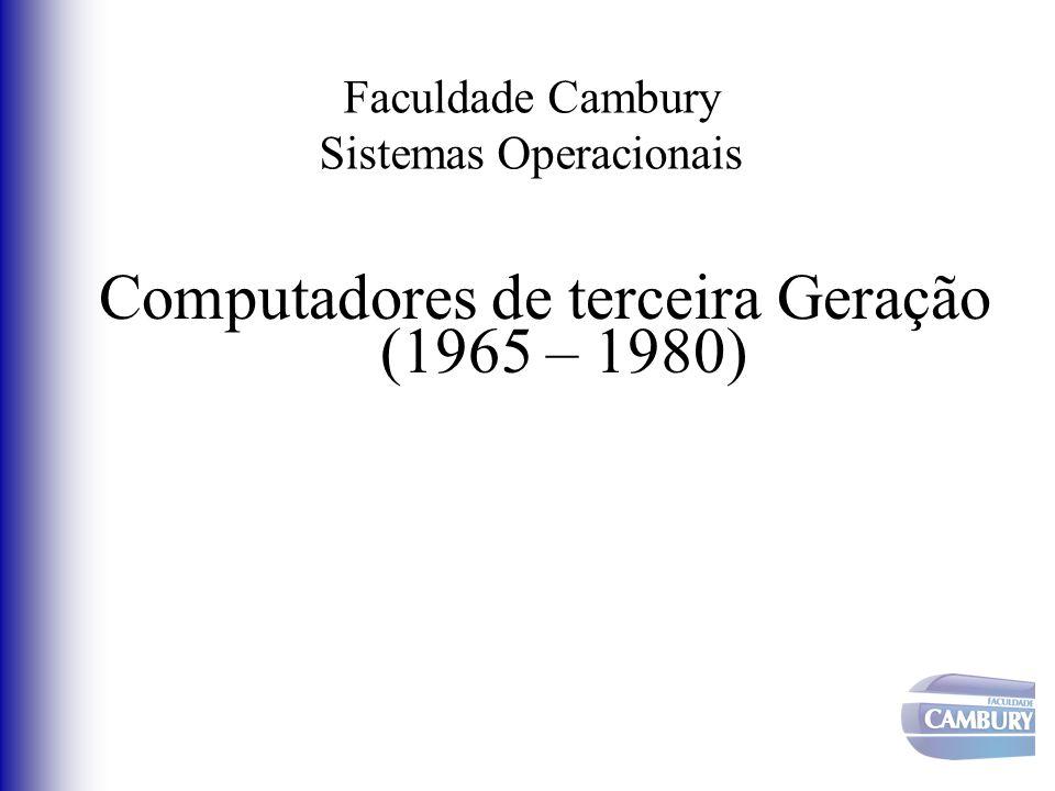 Faculdade Cambury Sistemas Operacionais Computadores de terceira Geração (1965 – 1980)