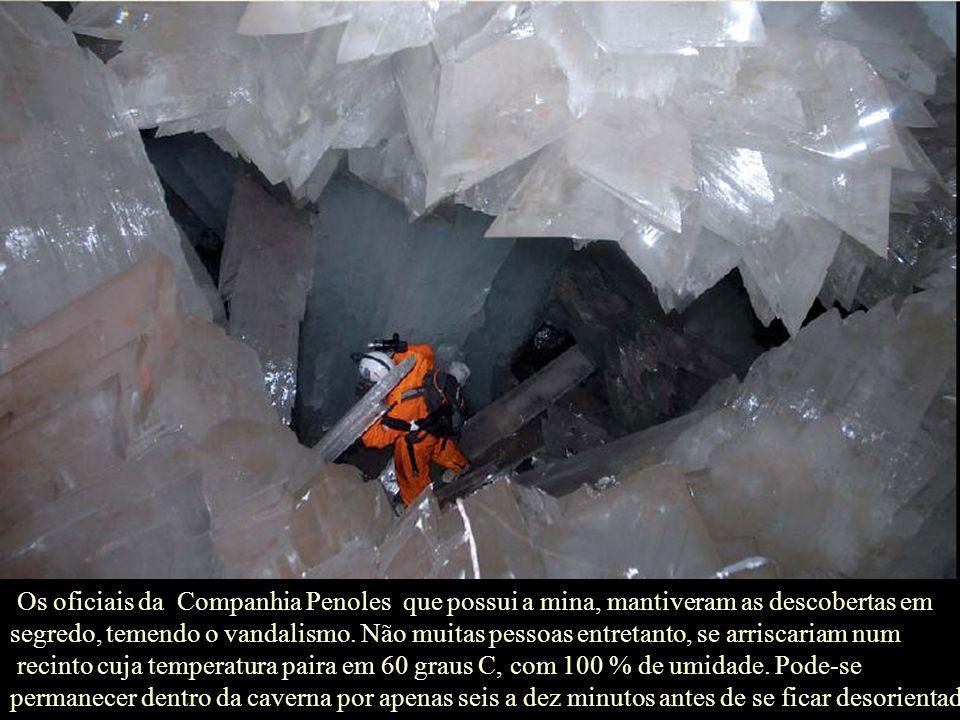 A companhia de mineração planeja colocar ar-condicionado nas cavernas antes que sejam abertas ao grande público, Fisher disse. Acrescenta que, reduzin