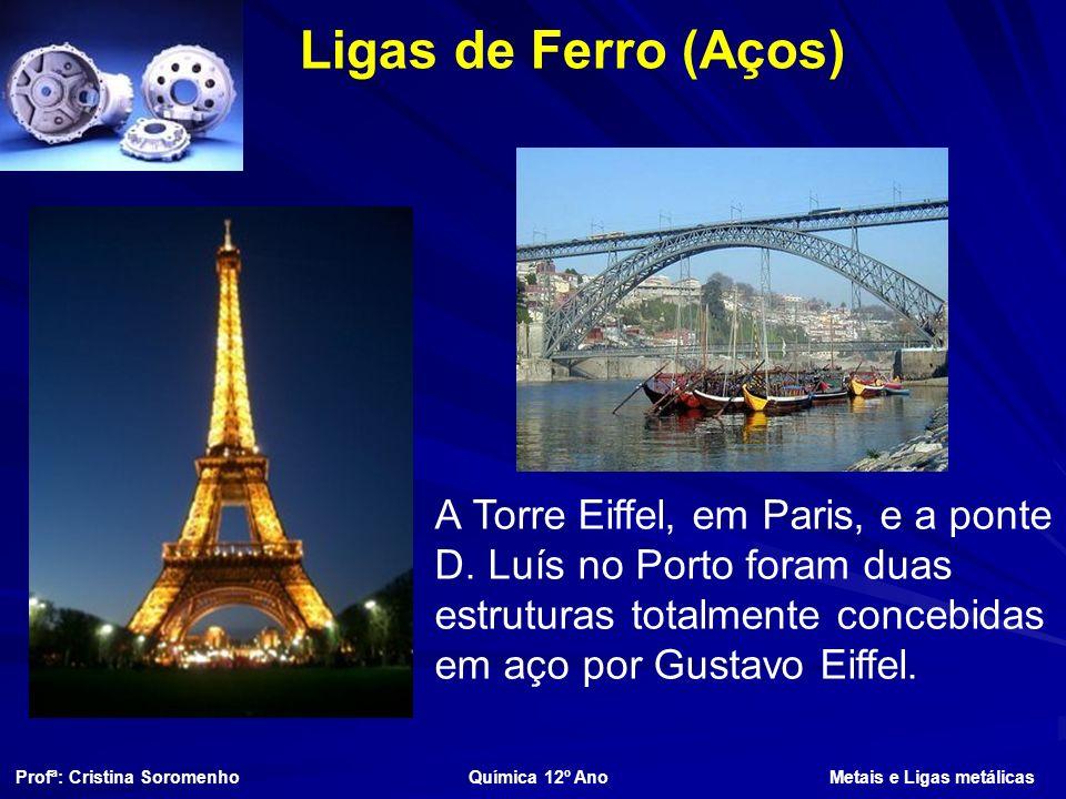 Ligas de Ferro (Aços) A Torre Eiffel, em Paris, e a ponte D.