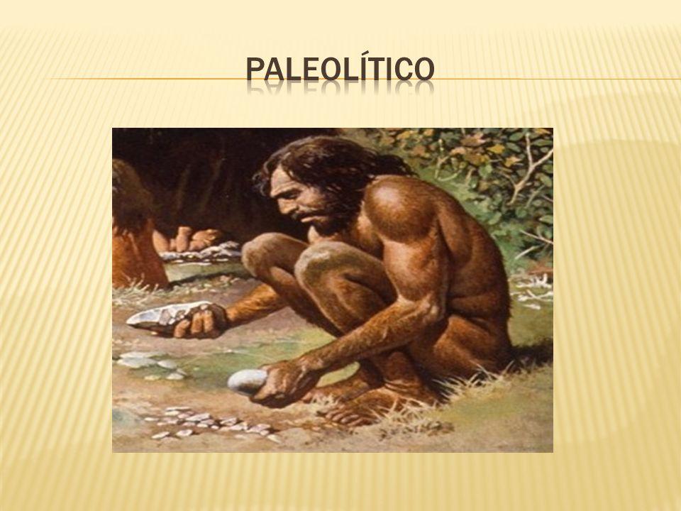 PALEOLÍTICO Os homens do Paleolítico eram caçadores(nomades), e modelavam suas armas em sílex, um tipo de rocha.