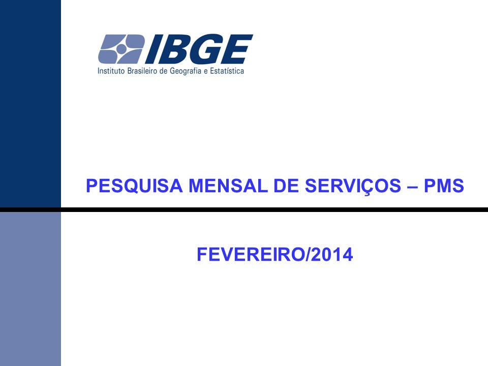 PESQUISA MENSAL DE SERVIÇOS – PMS FEVEREIRO/2014