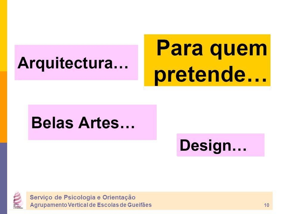 Design… Serviço de Psicologia e Orientação Agrupamento Vertical de Escolas de Gueifães 10