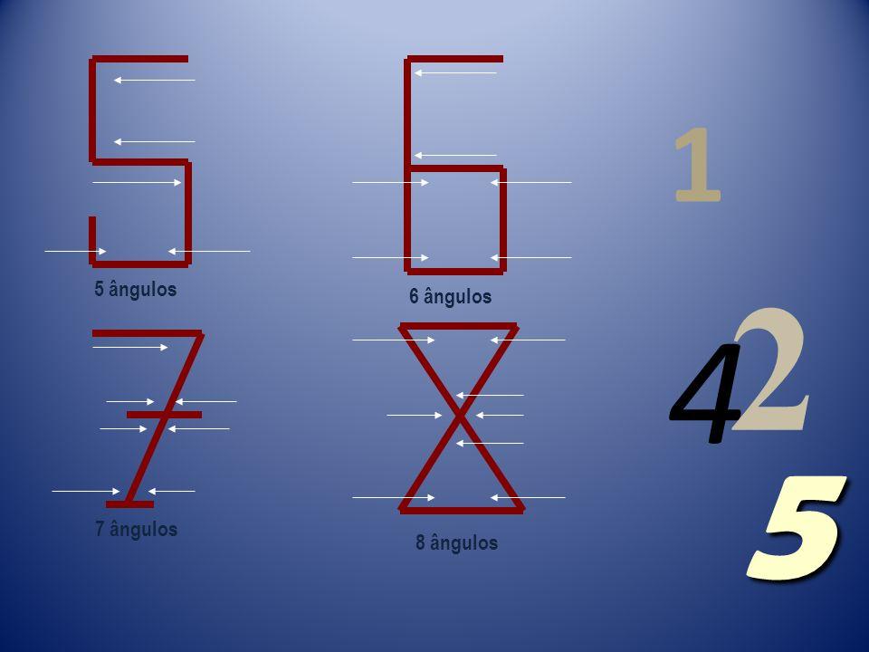 1 ângulo 2 ângulos 3 ângulos 4 ângulos 4 1 2 5