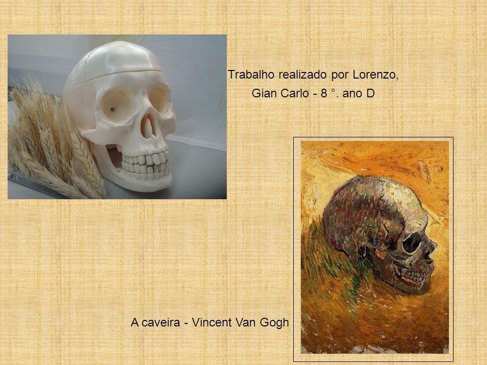 A caveira - Vincent Van Gogh Trabalho realizado por Lorenzo, Gian Carlo - 8 °. ano D