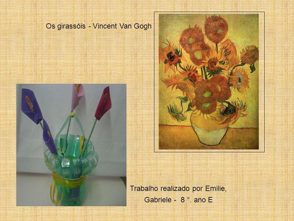 Os girassóis - Vincent Van Gogh Trabalho realizado por Emilie, Gabriele - 8 °. ano E