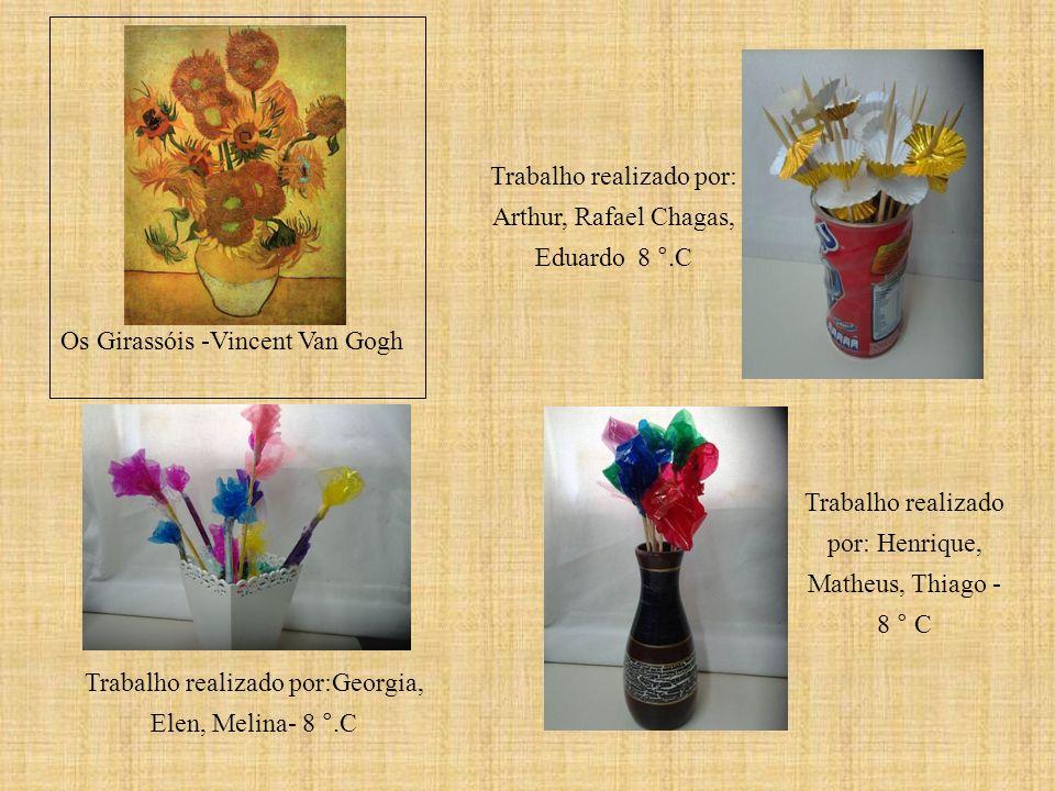 Trabalho realizado por: Arthur, Rafael Chagas, Eduardo 8 °.C Trabalho realizado por: Henrique, Matheus, Thiago - 8 ° C Os Girassóis -Vincent Van Gogh