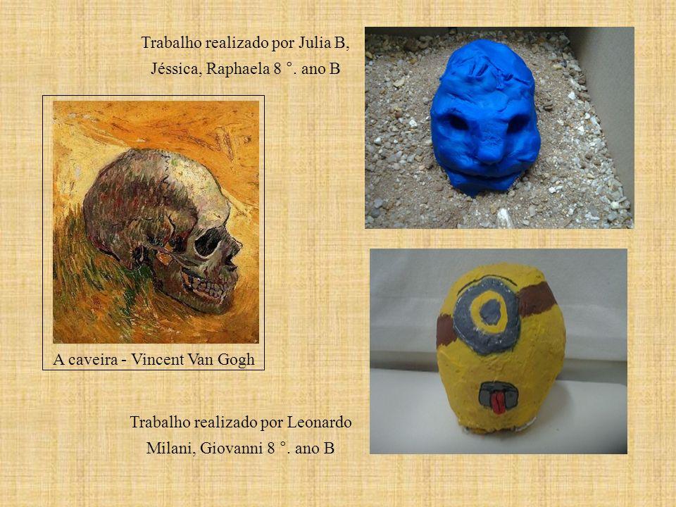 A caveira - Vincent Van Gogh Trabalho realizado por Julia B, Jéssica, Raphaela 8 °. ano B Trabalho realizado por Leonardo Milani, Giovanni 8 °. ano B
