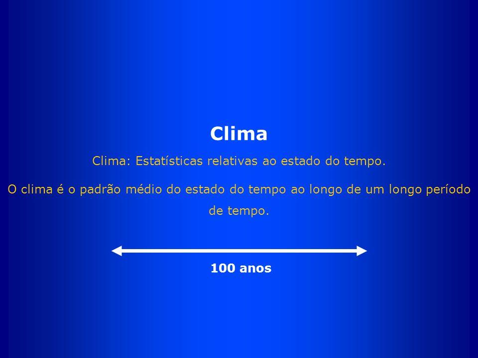 Clima Clima: Estatísticas relativas ao estado do tempo.