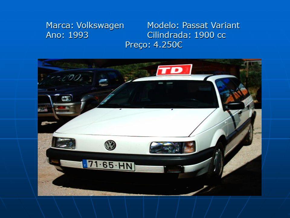 Marca: Volkswagen Modelo: Passat Variant Ano: 1993 Cilindrada: 1900 cc Preço: 4.250