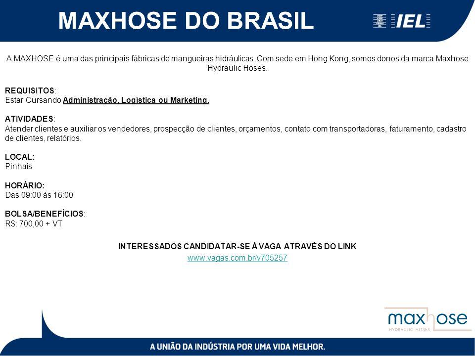 MAXHOSE DO BRASIL A MAXHOSE é uma das principais fábricas de mangueiras hidráulicas.