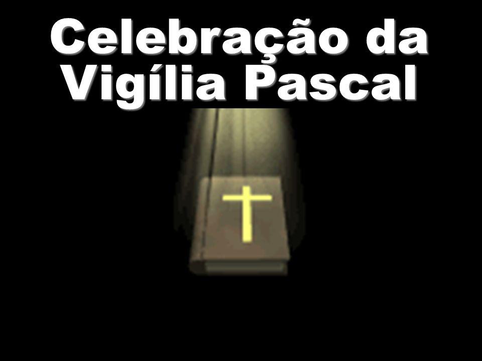 No esplendor desta noite, que viu os hebreus libertos, nós os cristãos, bem despertos, brademos: morreu a morte.