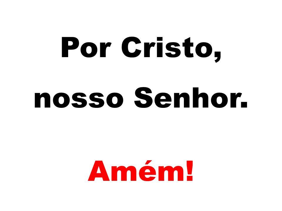 Por Cristo, nosso Senhor. Amém!