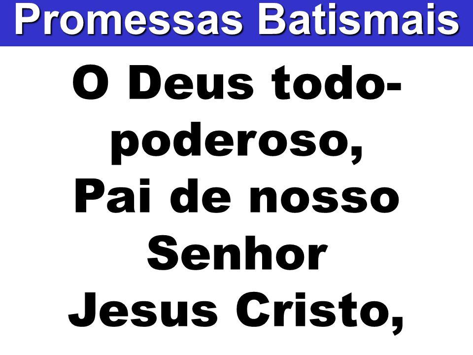 O Deus todo- poderoso, Pai de nosso Senhor Jesus Cristo, Promessas Batismais