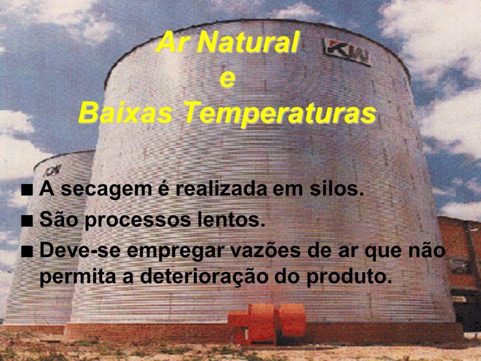 Ar Natural e Baixas Temperaturas n A secagem é realizada em silos.