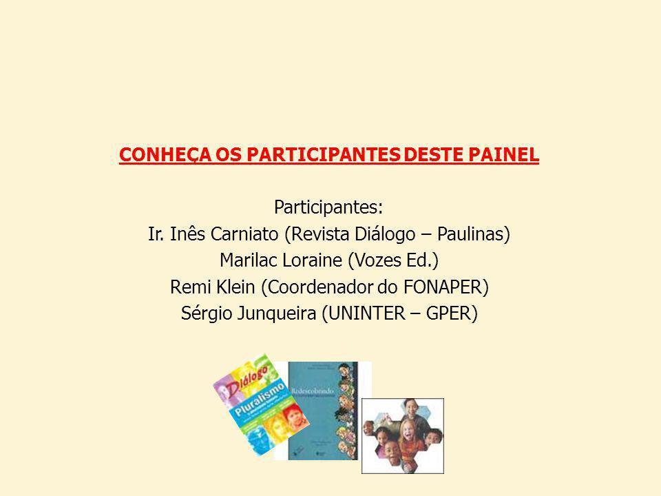 CONHEÇA OS PARTICIPANTES DESTE PAINEL Participantes: Ir.