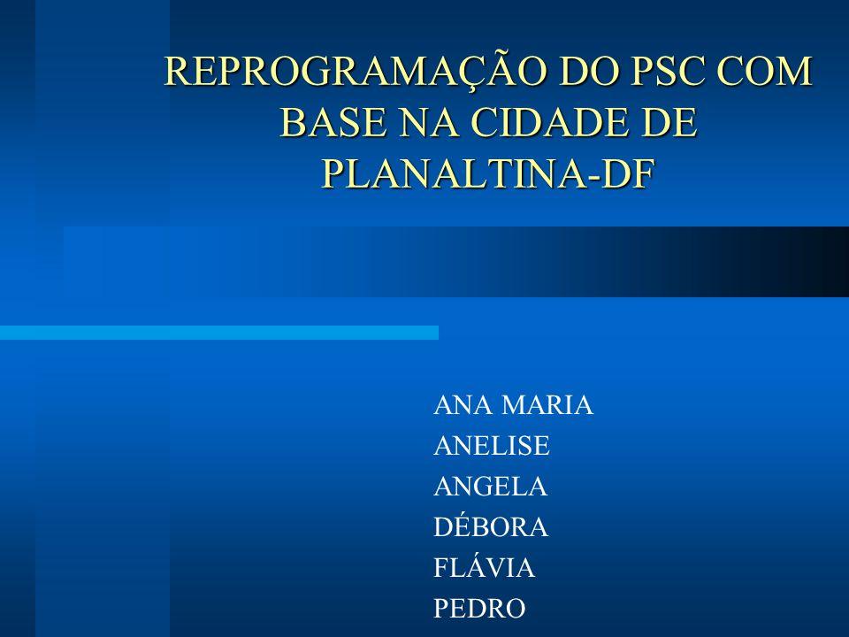 REPROGRAMAÇÃO DO PSC COM BASE NA CIDADE DE PLANALTINA-DF ANA MARIA ANELISE ANGELA DÉBORA FLÁVIA PEDRO