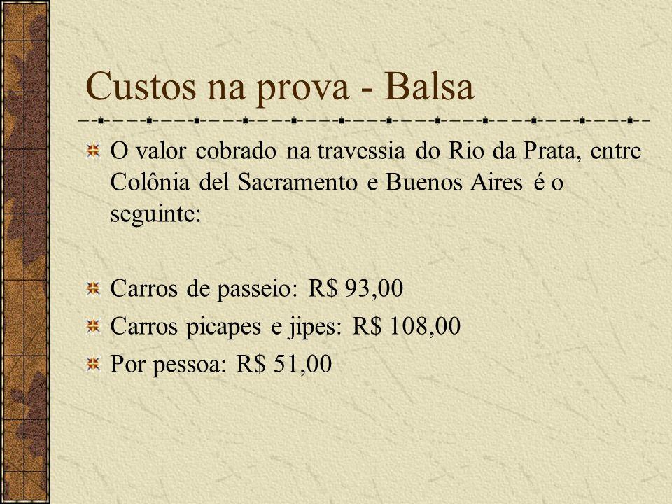 Retorno ao Brasil Sugerimos três opções de retorno: Via aérea de Buenos Aires (mandando o carro por cegonha,R$ 3.000,00 ou de navio, R$ 1.800,00) Via terrestre pelo Uruguai (balsa de Buenos Aires para Montevidéu) + 1 800 km p/ SP, sendo 400 no Uruguai e o restante em solo brasileiro.