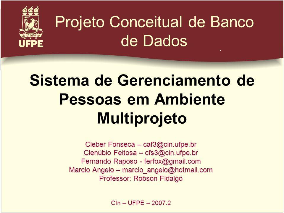 Sistema de Gerenciamento de Pessoas em Ambiente Multiprojeto Cleber Fonseca – caf3@cin.ufpe.br Clenúbio Feitosa – cfs3@cin.ufpe.br Fernando Raposo - f