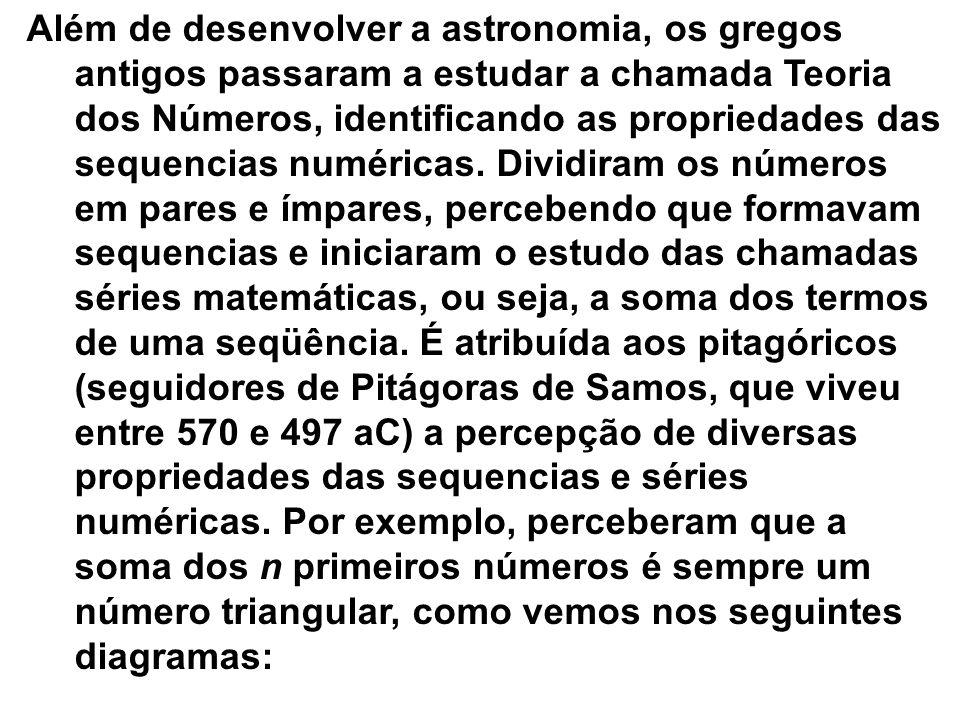 Ao que tudo indica, as sequencias numéricas passaram a interessar a humanidade devido à necessidade de construção de calendários. Os homens desenvolve