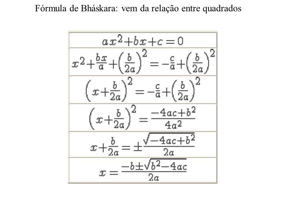 Fórmula de Bháskara Nome dado no Brasil à fórmula da equação do 2º grau em homenagem a Bháskara (ou Bháskara II ou Bhaskaracharya – Bháskara o Profess