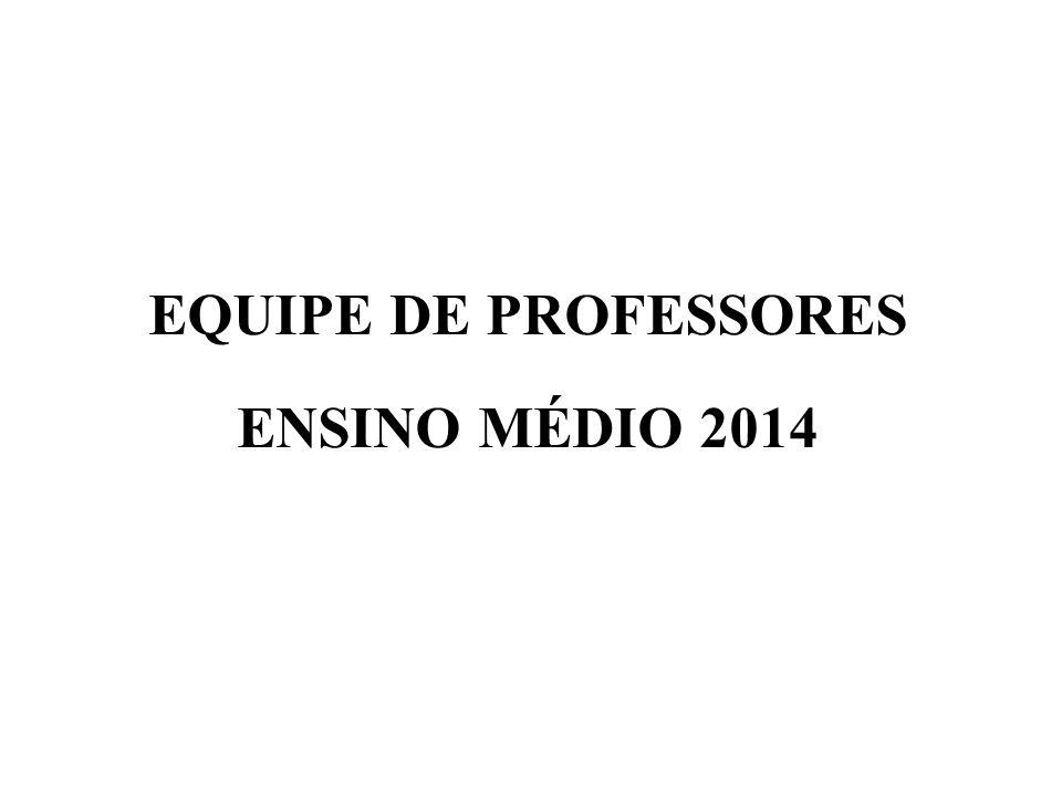 EQUIPE DE PROFESSORES ENSINO MÉDIO 2014