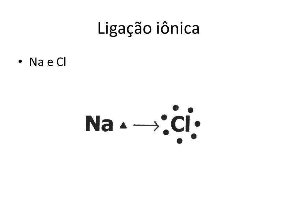 Ligação iônica Na e Cl