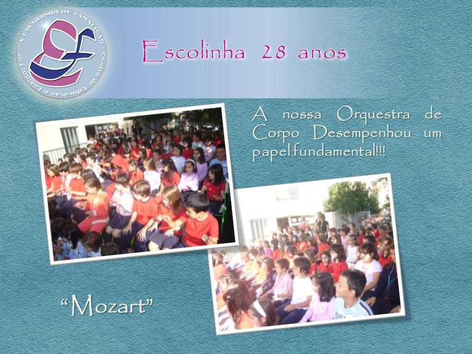 A nossa Orquestra de Corpo Desempenhou um papel fundamental!!! Mozart