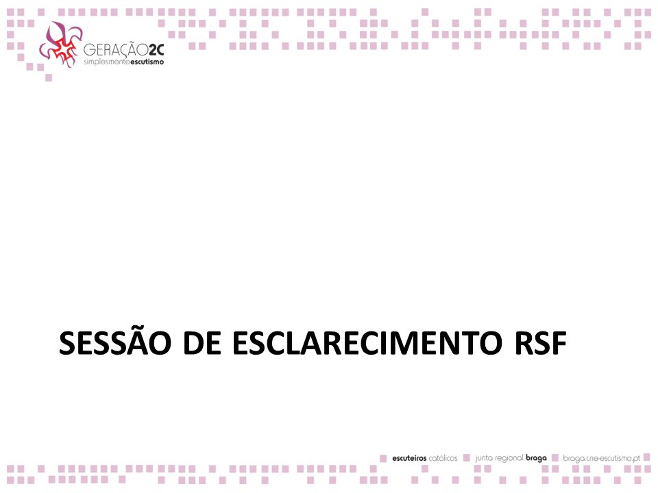 Fita do tempo do Percurso Inicial – primeiro ano Setembro 15 Agosto 14 Julho 13 Junho 12 Maio 11 Abril 10 Março 9 Fevereiro 8 Janeiro 7 Dezembro 6 Novembro 5 Outubro 4 Setembro 3 Agosto 2 Julho 1 Junho 0 Maio Abril -2 Maturidade Cristã Encontro inicial (1 dia) Encontro inicial (1 dia) Apresentação Iniciação à Pedagogia Escutista (1 fim de semana) ET Registo do diagnóstico e PDPE Confirmação de OEF concluídos ET: Encontro de Tutores: Trimestralmente, as Juntas Regionais devem promover um encontro de tutores, para partilhar: Como decorreu o diagnóstico e quais as áreas e os trilhos dos OEF em que há mais lacunas (1º encontro após a Apresentação); Oportunidades formativas que o candidato selecionou Dificuldades sentidas e solicitações à Junta Regional Poderá ser conveniente organizar encontros por núcleo e separar ciclo de ET consoante sejam candidatos da primeira ou da segunda ronda de EI Iniciação à Pedagogia Escutista: Devem decorrer o mais cedo possível a seguir à Apresentação e após a conclusão do diagnóstico.