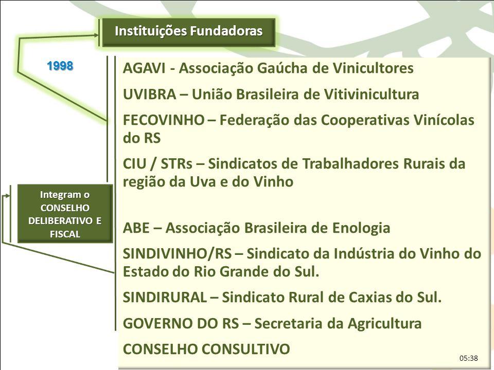 AGAVI - Associação Gaúcha de Vinicultores UVIBRA – União Brasileira de Vitivinicultura FECOVINHO – Federação das Cooperativas Vinícolas do RS CIU / ST