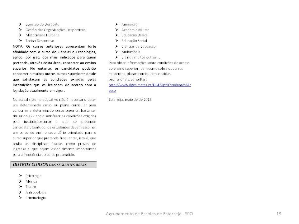 Agrupamento de Escolas de Estarreja - SPO13