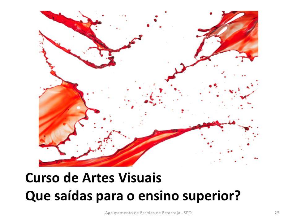 Agrupamento de Escolas de Estarreja - SPO Curso de Artes Visuais Que saídas para o ensino superior? 23