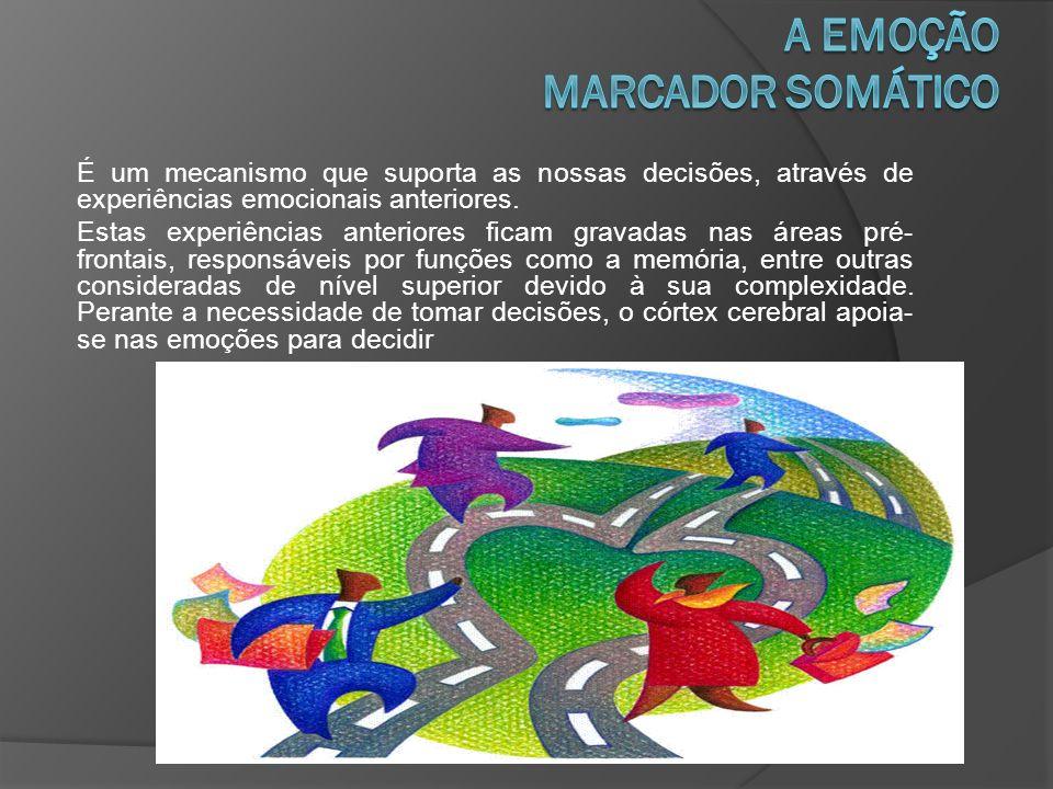 É um mecanismo que suporta as nossas decisões, através de experiências emocionais anteriores.