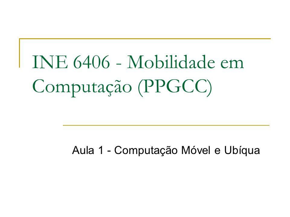 INE 6406 - Mobilidade em Computação (PPGCC) Aula 1 - Computação Móvel e Ubíqua