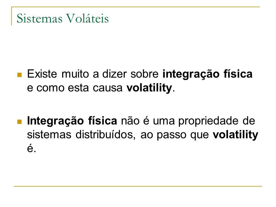 Sistemas Voláteis Existe muito a dizer sobre integração física e como esta causa volatility.