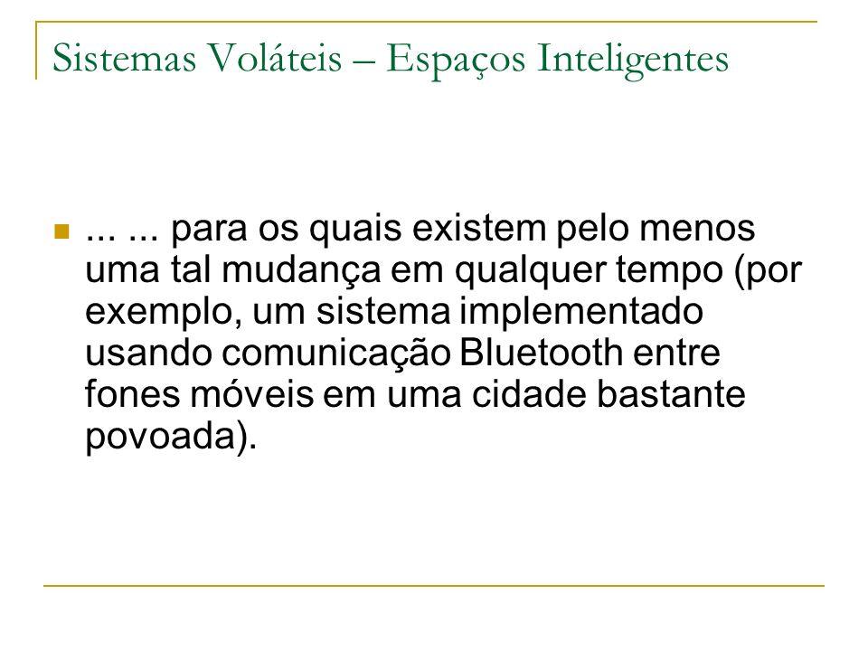 Sistemas Voláteis – Espaços Inteligentes......