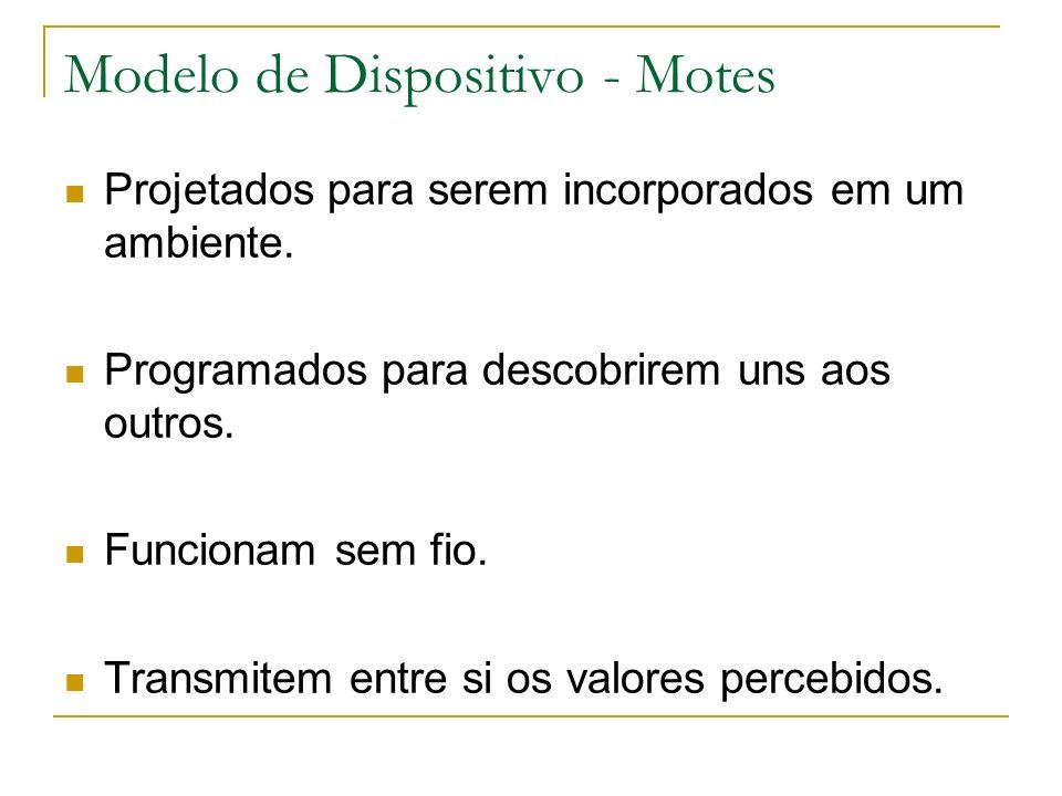 Modelo de Dispositivo - Motes Projetados para serem incorporados em um ambiente.