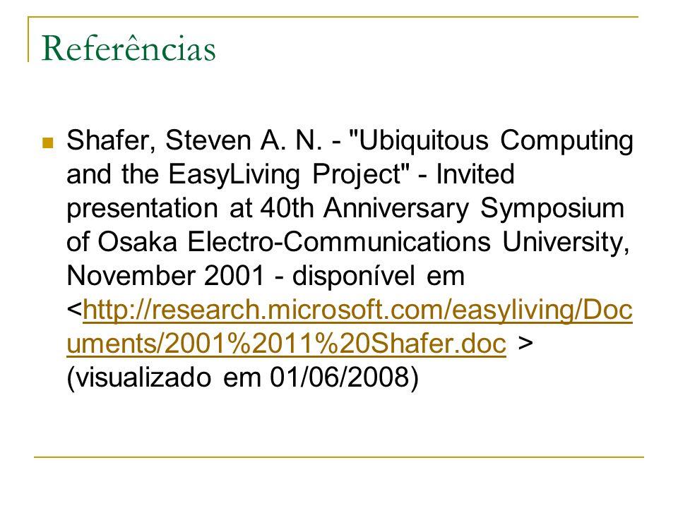Referências Shafer, Steven A.N.