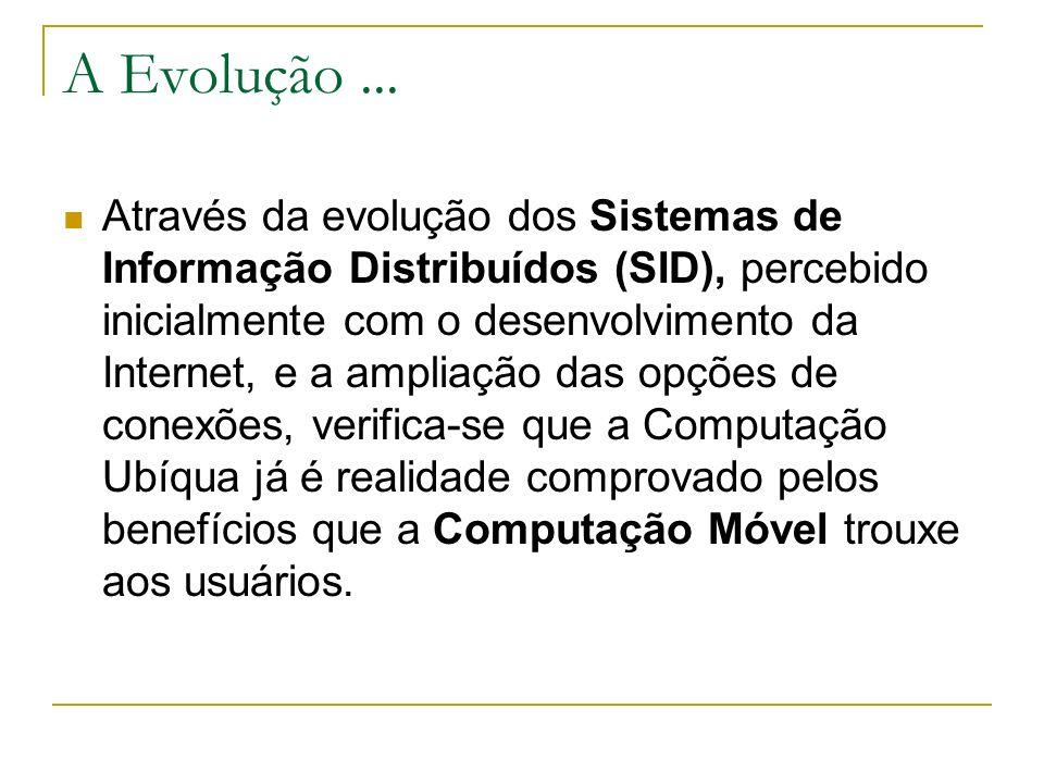A Evolução... Através da evolução dos Sistemas de Informação Distribuídos (SID), percebido inicialmente com o desenvolvimento da Internet, e a ampliaç