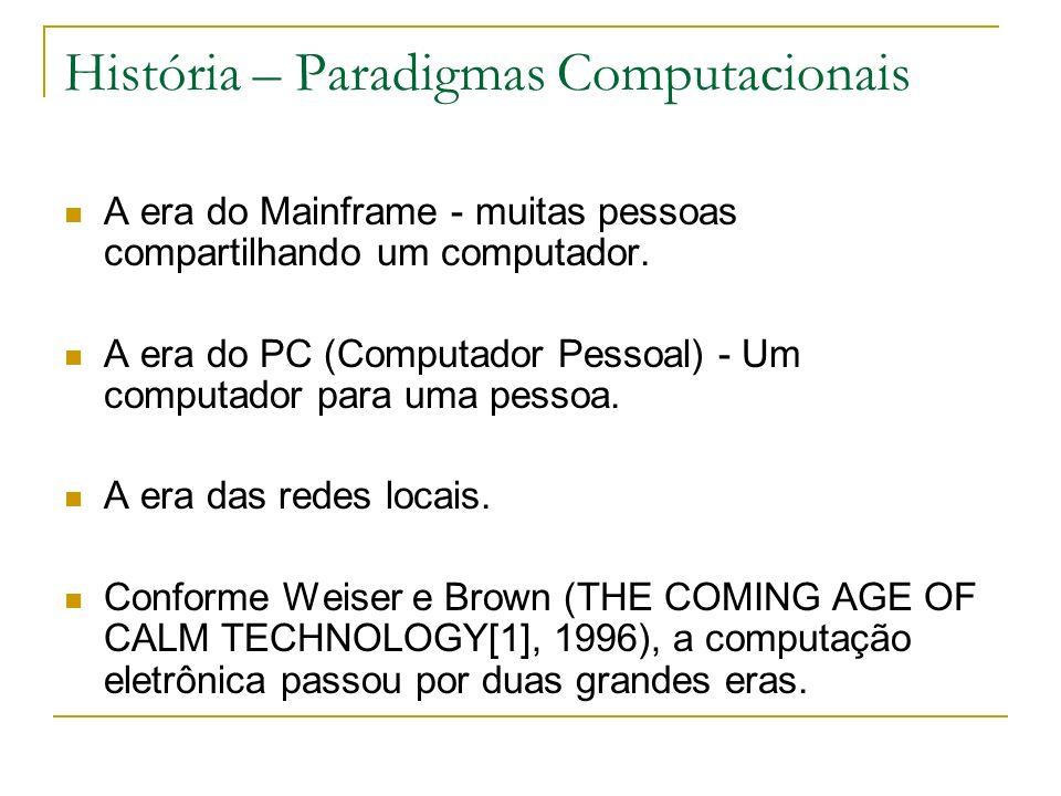 Objetivos As técnicas para se adaptar à falta de recursos computacionais e de E/S de dispositivos portáteis; O projeto Cooltown, que planejou uma arquitetura orientada para seres humanos, baseada na web, para computação móvel e ubíqua.