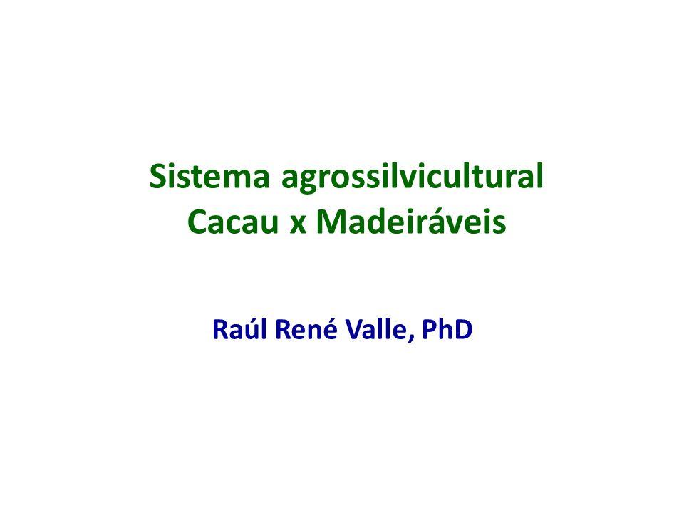 Sistema agrossilvicultural Cacau x Madeiráveis Raúl René Valle, PhD