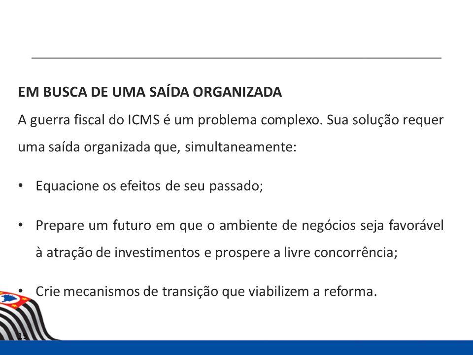 EM BUSCA DE UMA SAÍDA ORGANIZADA A guerra fiscal do ICMS é um problema complexo.