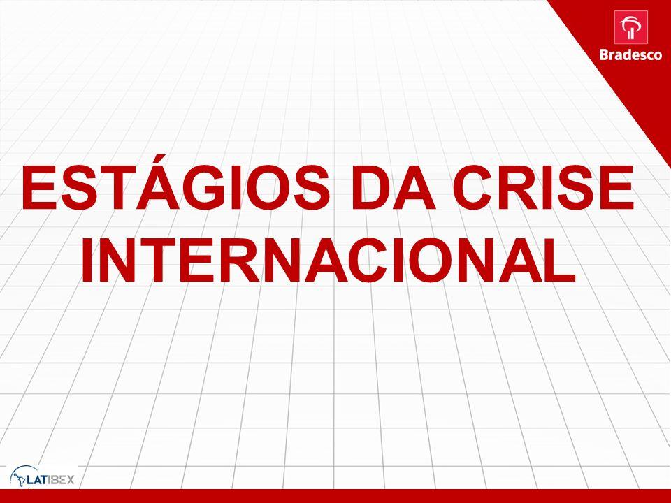 ESTÁGIOS DA CRISE INTERNACIONAL AVERSÃO AO RISCO DIMINUI UM POUCO NOS MERCADOS GLOBAIS: CRISE AMERICANA NO SEU ÚLTIMO QUARTO E CRISE EUROPEIA NO SEU T